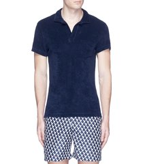 'terry' cotton towelling polo shirt