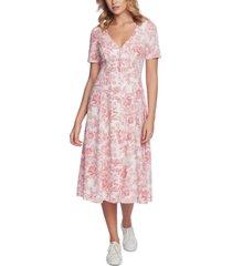 1.state floral-print v-neck dress