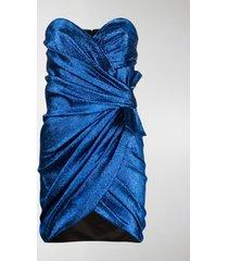 saint laurent wraped lamé mini dress