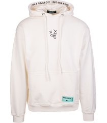 pharmacy industry man white hoodie with back xanny print
