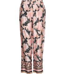 bahiacr pants pantalon met rechte pijpen roze cream