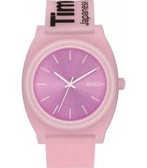 reloj time teller p invisible pink nixon