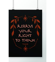 poster right to think