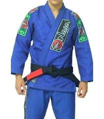 kimono jiu jitsu naja série prata azul