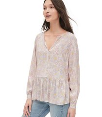 blusa cuello zen rosa gap