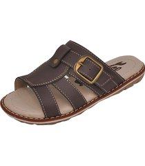 sandália infantil raniel calçados papete chinelo com fivela café