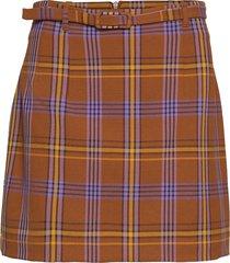 immy suiting chkd bltd mini sk kort kjol multi/mönstrad french connection