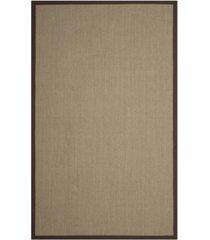 safavieh natural fiber sage and brown 4' x 6' sisal weave rug