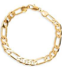 matthew cuban goldtone titanium curb chain bracelet