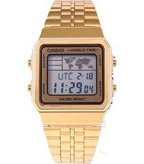 reloj casio a-500wga-9d digital 100% original-dorado