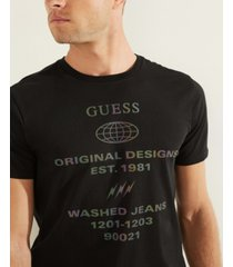 guess men's reflective logo tee