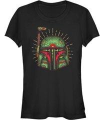 fifth sun star wars women's boba fett sugar skull short sleeve tee shirt