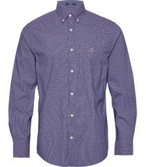 d1. tp dobby micro check reg bd overhemd business blauw gant
