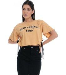 t-shirt eco pkd palm springs amarela - kanui