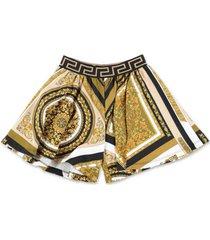 baroque print sweat shorts
