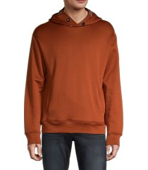 emporio armani men's logo hoodie - russet - size xl