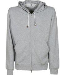 brunello cucinelli zipped hoodie