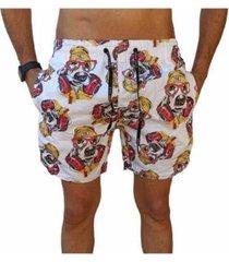 bermuda short moda praia estampados cachorro relaxado masculina