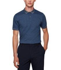 boss men's organic-cotton slim-fit polo