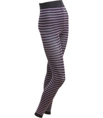 gestreepte leggings, paars/leisteen 36