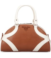 prada bowling leather handbag