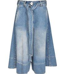 lanvin belted flared jeans