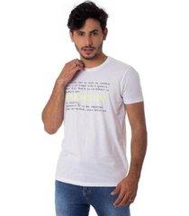 camiseta a jornada gola redonda thiago brado 1107000004 branco - branco - g - masculino