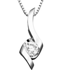 sirena diamond twist pendant necklace (1/4 ct. t.w.) in 14k gold, white or rose gold