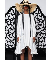 akira love me or hate me oversized t-shirt dress with contrast fabric