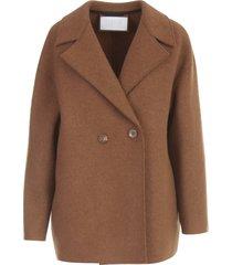 harris wharf london women dropped shoulder d.b. jacket boiled wool