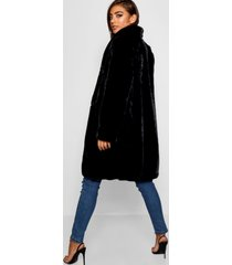 faux fur coat, black