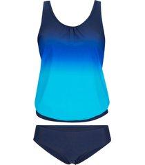 tankini oversize (set 2 pezzi) (blu) - bpc bonprix collection