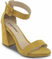 sandalias tacón alto celia ocre-amarillo para mujer croydon
