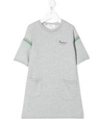 bonpoint jersey sweatshirt dress - grey