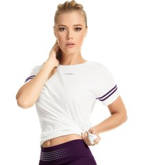 camiseta en malla haby para mujer-marfil