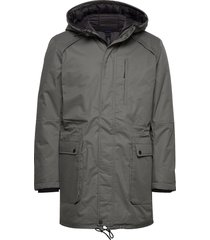 slhvincent jacket b parka jas grijs selected homme