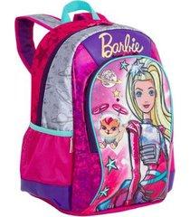 mochila média barbie aventura nas estrelas infantil sestini