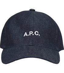 a.p.c. denim baseball cap