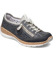 n42p6-14 snörade skor låga blå rieker