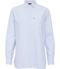 isa oxford shirt overhemd met lange mouwen blauw lexington clothing