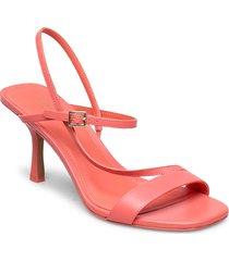tasha sandal sandal med klack rosa michael kors shoes