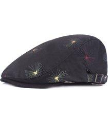 uomo donna cotone traspirante assorbe il sudore moda fuochi d'artificio beret cappelli cappellino per protezione solare