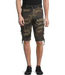 x ray men's belted cargo shorts - olive camo - size 30