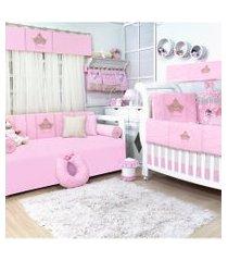 quarto completo padroeira baby princesa luxo rosa