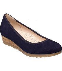 ballerina sko wedge blå gabor
