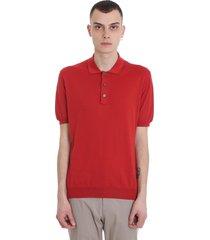 ermenegildo zegna polo in red cotton
