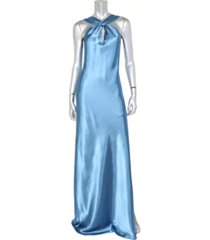 bebe juniors' keyhole halter gown
