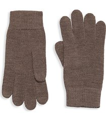 knitted merino wool gloves