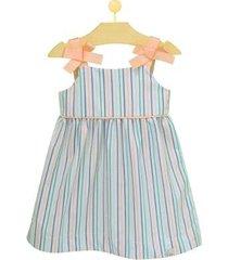 vestido infantil pandi laço listrado feminino