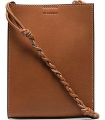 jil sander tangle small leather crossbody bag - brown